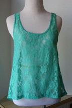 delia's NWOT Beautiful Green Lace Sleeveless Top Size Small - $9.89