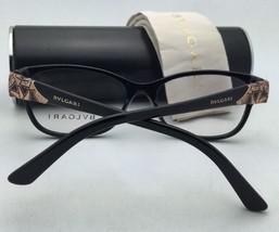 New BVLGARI Eyeglasses 4073-B 501 52-16 140 Shiny Black Frame w/ Crystals