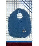 Repurposed Denim Bib - Football Helmet - $10.00