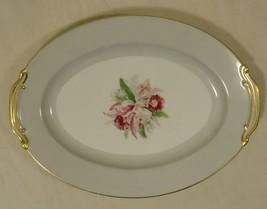 Noritake 5049 Vintage Serving Platter 12in x 9in x 1in China Gold Rim - $37.59