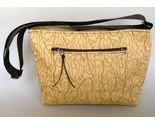 Gold Fabric Tote Purse Handcrafted Handbag Unique Shoulder Bag Adjustable Strap