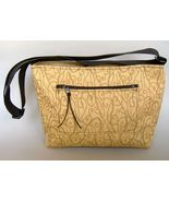 Gold Fabric Tote Purse Handcrafted Handbag Uniq... - $74.00