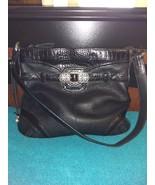 Brighton black leather shoulder bag purse - $37.00