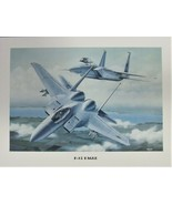 """Unframed Print (12"""" X 16"""") of two F-15 Eagles in hot pursuit of their prey. - $10.84"""