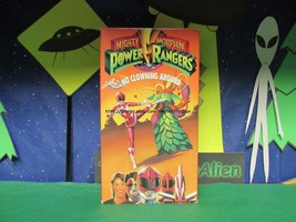 """Mighy Morphin Power Rangers - """"No Clowning Around"""" VHS, whip some clown ... - $6.32"""