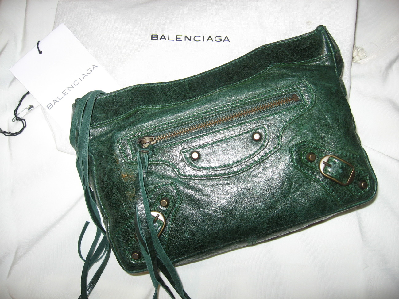 Primary image for Balenciaga - '07 F/W Pine Green Make up Clutch Makeup
