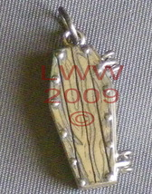 Tiny Pewter Coffin Necklace Pendant Charm~ it opens - $17.85