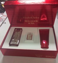 Elizabeth Arden Red Door Aura 1.7 edt +3.3 Body Lotion And Mini Set - $46.03