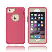 iPhone 8 / 7 / 6S / 6 Premium Armor Defender Case (Hot Pink White) - $10.00