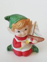 Homco Pixie Elf With Brush & Sail Figurine Home Decor - $9.79