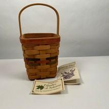 Longaberger Handled Basket Shades of Autumn 1992 Bittersweet - $20.00