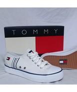 VTG Tommy Hilfiger Shoes NEW Boat 90s Flag Canvas Lace Ski Sneaker Sport... - $119.99