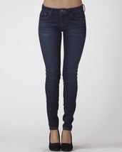 Womens Jeans Stretch Skinny Mid Rise Dark Wash Denim Pants Scarlet Boulevard