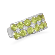 White Topaz and Peridot Ring - €83,27 EUR