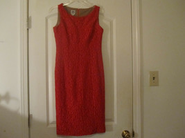 Anne Klein Womens Red Crochet Dress Lined Sleeveless Size 2 - $7.40