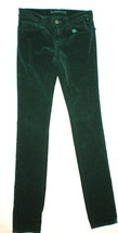 New J Brand Jean Velvet Womens Dark Green Dupes 25 Pencil Leg Cord Cordu... - $218.00