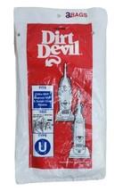Dirt Devil Vacuum Bags Type U Pack Of 2 Genuine - $6.85