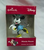 "Walt Disney MINNIE MOUSE ICE SKATING 3"" HALLMARK CHRISTMAS HOLIDAY ORNAM... - $14.85"