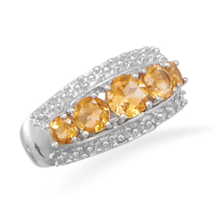 Graduated Genuine Citrine Ring - €74,94 EUR