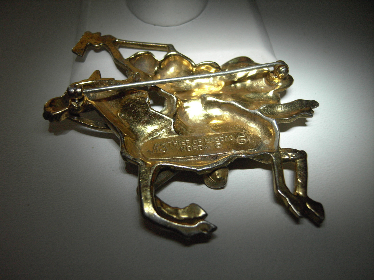 Korda Thief of Bagdad Cloaked Rider Brooch 1960's