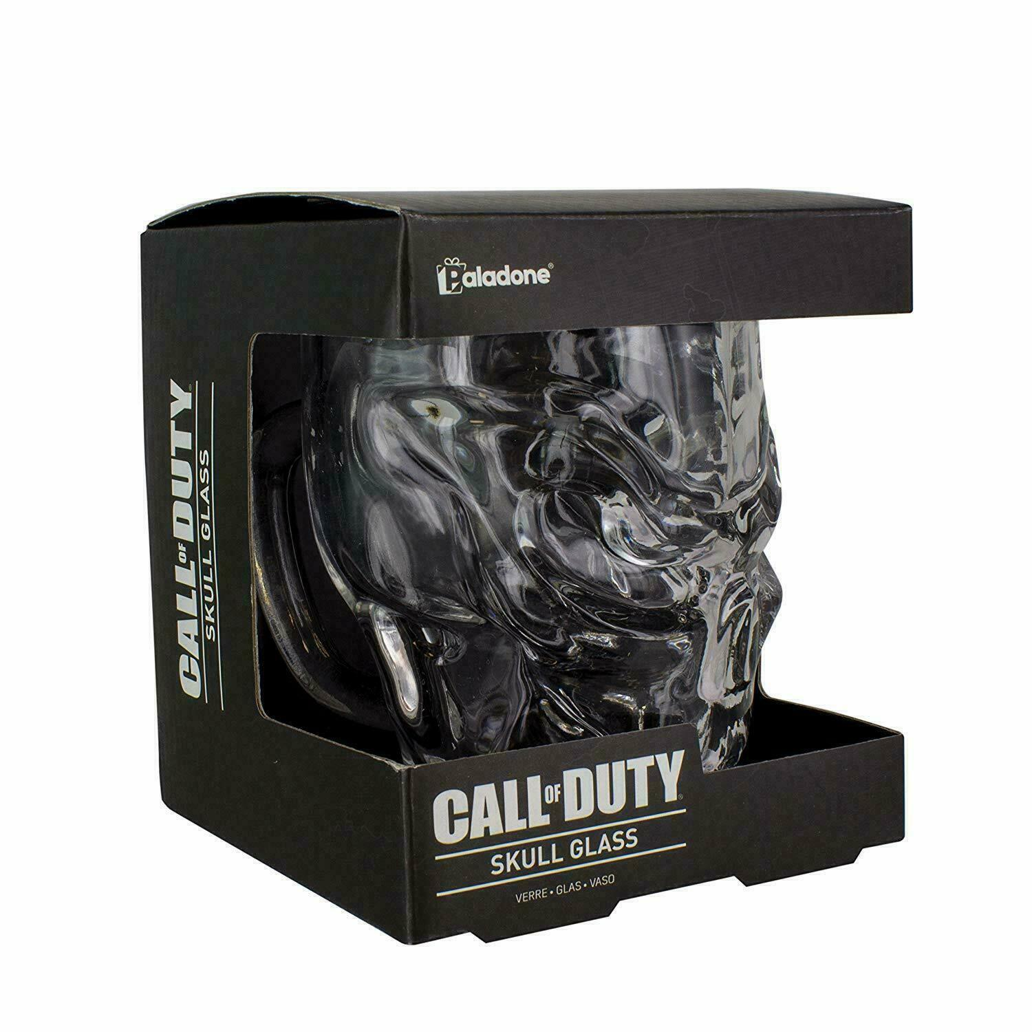Call of Duty Skull Glass Whiskey Drink Handle COD Gamer Gift