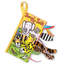 Jellycat Jelly Cat Kitten Jungly Tails Plush Soft Cloth Baby Book - $9.90