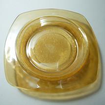 VTG Jeannette Floragold Louisa iridescent glass Bowl dish or lid - $21.04