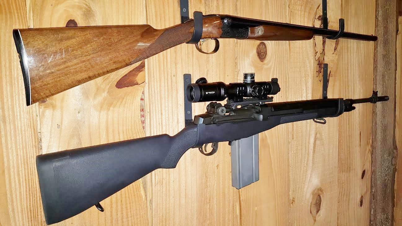 Gun Rack Shotgun Hooks Rifle Hangers Gun Hooks Wall Mount