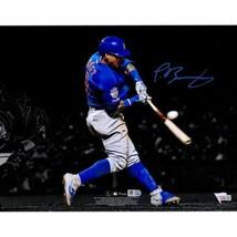 Javier Baez Chicago Cubs Signed 11x14 Leg Up Spotlight Photo Fanatics. - $222.75