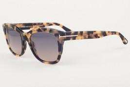 Tom Ford LAUREN 614 55B Shiny Tortoise / Gray Gradient Sunglasses TF614-... - $185.22