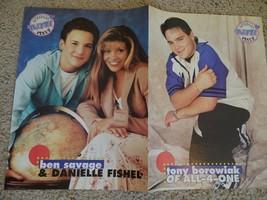 Danielle Fishel Ben Savage Devon Sawa teen magazine poster clipping vint... - $12.00