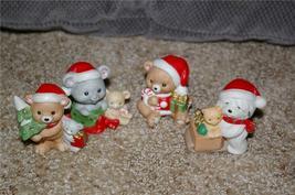 Homco Christmas Animal Figurine Set 5254 Home Interiors - $9.99