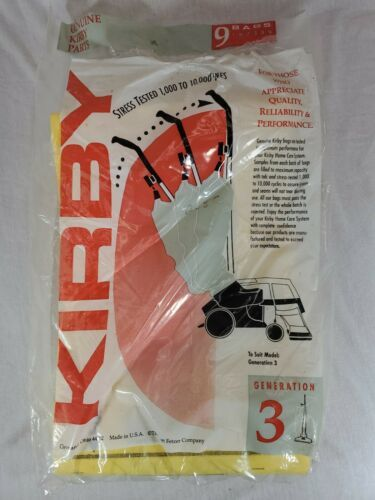 Primary image for Kirby Generation 3 Vacuum Cleaner Bags 197289 (7 bags) (s)
