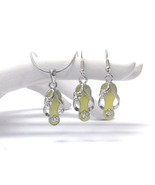 Crystal Fashion Flip Flop Charm Yellow/Silver N... - $14.00