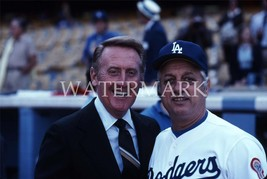Vin Scully Tommy Lasorda LA Dodgers EOS Vintage 11X14 Color Baseball Photo - $14.95