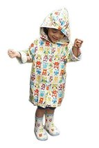 Funny White Owls Raincoat Toddlers Rain Cover, 2-3 Yrs