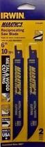 """Irwin 372610P2 6"""" x 10 TPI Metal & Wood Reciprocating Cutting Blades 2 P... - $2.23"""