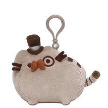 "GUND Pusheen Fancy Cat Plush Stuffed Animal Backpack Clip, Gray, 4.5"" - $16.54"