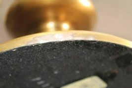 "Rare Set Of 2 Pottery Barn Olivia Candle Holder Hurricane 17"" Brass Tone image 4"