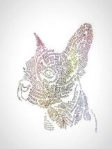 Boston terrier art canvas print Wordart dog breed unique boston terrier ... - $25.00 - $38.44