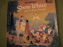 33RPM Vintage 1968 Original SNOW WHITE Walt Disney Movie Soundtrack - $12.52