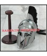 Greek Corinthian Armor Helmet With Black Plume - Medieval Knight Spartan... - $65.00