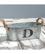 Galvanized Monogram Bucket D - $13.65