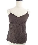 Womens 2 American Eagle Outfitters Brown Sequin Tank Top XXS - $14.00