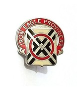 US Army 404th Support Battalion Unit Crest Pin DUI Iron Eagle Provider I... - $10.76