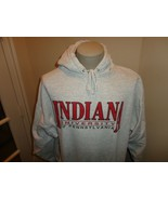 Vtg HEAVY Indiana University of Pennsylvania Crimson Hawks Hooded Sweats... - $49.45