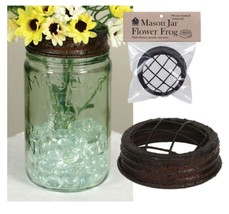 NEW!! Primitive/Farmhouse/Cottage/Country Mason Jar Flower Frog Lid - $3.51