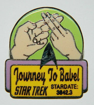 Star Trek Original Series 39th Aired Episode Journey To Babel Logo Pin 1... - $8.79