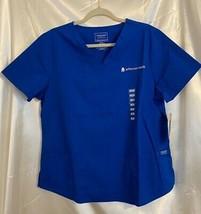 Cherokee Workwear Professionals Womens Scrub Top Blue Jefferson Health L... - $16.82