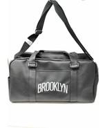 NBA Brooklyn New York Nets Large Black Leather Travel Duffel Bag with Logo - $49.10